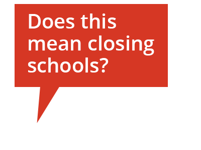 Cartoon bubble: Does this mean closing schools?