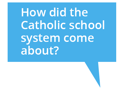 Cartoon bubble: How did the Catholic school system come about?