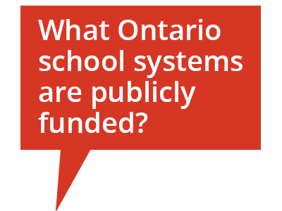Cartoon bubble: What Ontario school systems are publicly funded?