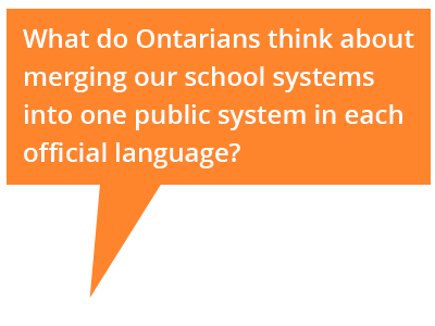Cartoon bubble: What do Ontarians think about merging our school systems?